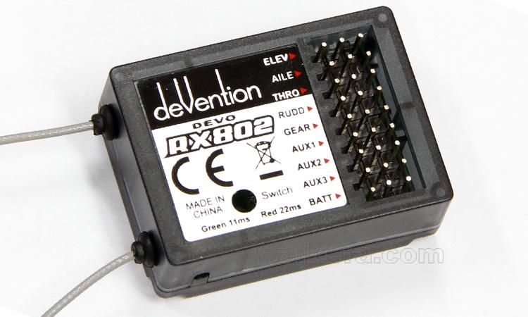 Walkera (HM-DEVO-RX-802) DEVO RX-802 2.4GHz Receiver (8ch受信機)