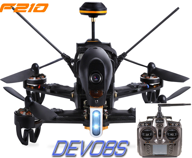【ラジコン ヘリコプター】WALKERA ワルケラ / F210 レーシング クアッドコプター + DEVO8S 送信機(HDカメラ、OSD、バッテリー、日本語マニュアル付)充電器は別売り【送料無料】