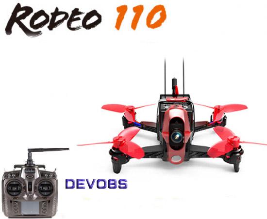 【ラジコン ヘリコプター】WALKERA ワルケラ /Rodeo 110(ロデオ) ミニクアッドコプター + DEVO8s送信機(カメラ、バッテリー、USB充電器、日本語マニュアル付)【送料無料】