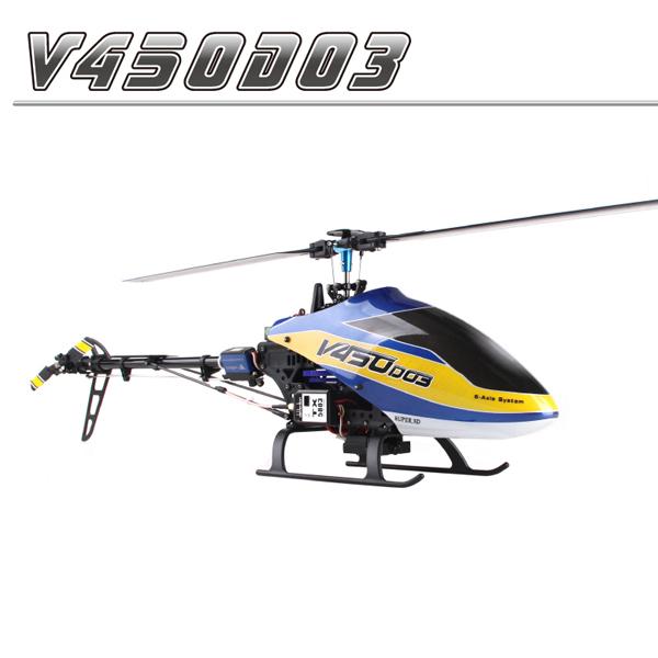 ●【ラジコン ヘリコプター】WALKERA ワルケラ / V450D03 6CH (DEVO用) 機体のみ (バッテリー、充電器付)【送料無料】※付属バッテリーは社外2200mah