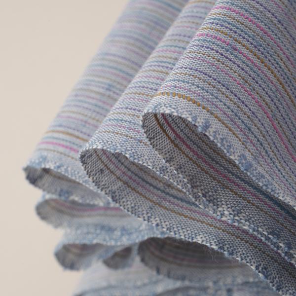 なないろ紬 海 綿 着物 洗える着物 大人可愛い おしゃれな きれいめ 青 水色 ブルー