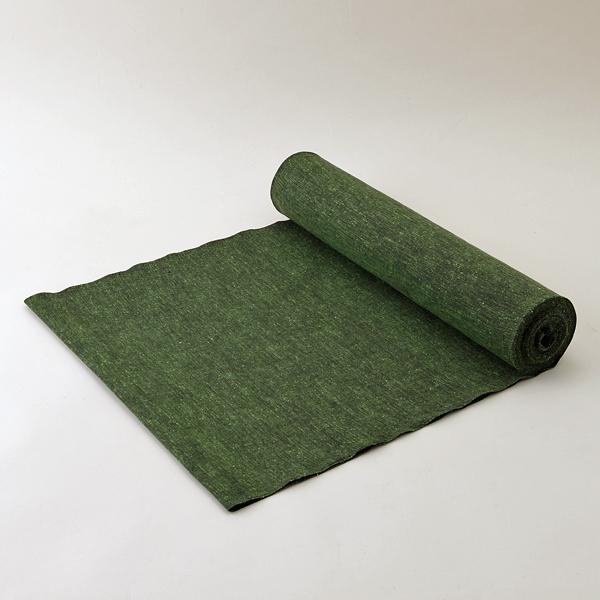 ぬくもり工房無地紬 千歳緑(せんざいみどり) 木綿反物【送料無料】