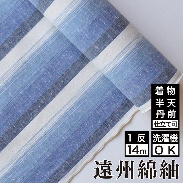 【送料無料】日本の縞 富士綿 着物 洗える着物 大人可愛い おしゃれな きれいめ