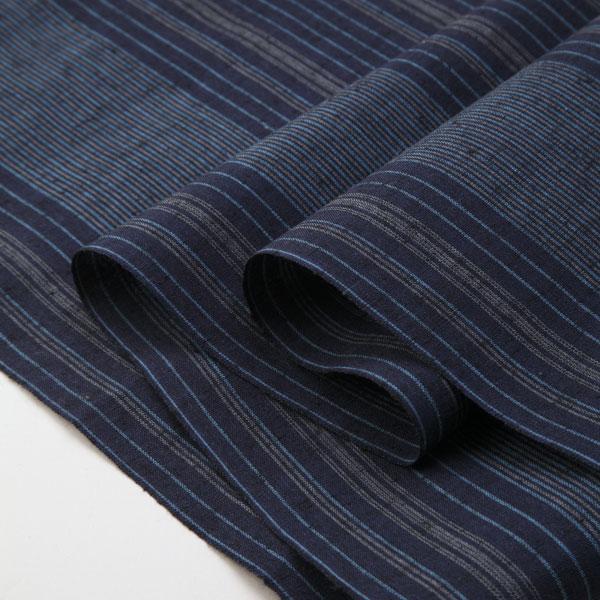 Striped tsumugi s-12 - sea breeze (umikaze) - cut up for sale