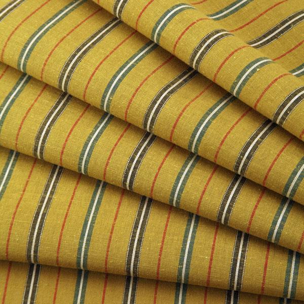 Striped tsumugi s-4 - 秋郊 (shuukou) - cut up for sale