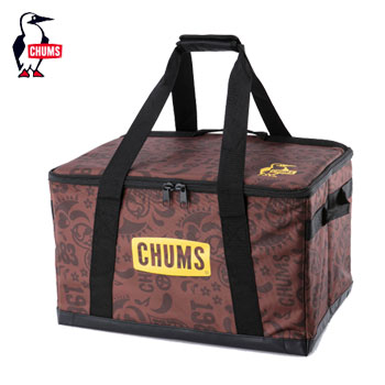 CHUMS フォールダブルボックスM CH62-1353Love&Peace[チャムス Foldable Box M アウトドア キャンプ用品 収納ケース ボックス テント ゴルフ]