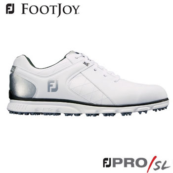 フットジョイ FJ PRO/SL ゴルフシューズ #56844  ホワイト+シルバー [FootJoy Golf Shoes]