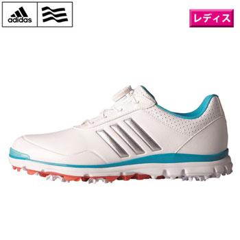 アディダス 2017 ウィメンズ アディスター ライト ボア ゴルフシューズ Q44694ホワイト/シルバーメタリック/エナジーブルー【adidas ゴルフ golf shoes 靴 W adistar lite Boa】