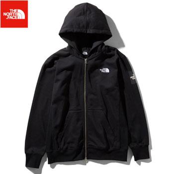 ノースフェイス スクエアロゴフルジップ メンズNT11952 (K)ブラック [THE North Face アウトドア パーカー スウェット Square Logo FullZip ゴルフ]