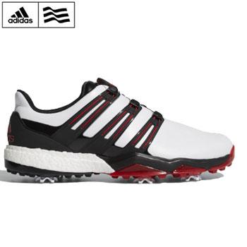 アディダス 2018パワーバンド ボア ブースト ゴルフシューズ  Q44870 ホワイト/コアブラック/スカーレット【adidas ゴルフ golf shoes 靴 powerband Boa boost】