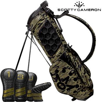 スコッティキャメロン 2019 Carry Bag Wanderer Camo Green/Black ヘッドカバーセット [Titleist Scotty Cameron Stand Bag キャディバッグ スタンドバッグ サークルT 迷彩 カモフラゴルフ]
