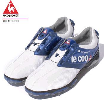 ルコック 2018ゴルフシューズ(18SS)QQ0592 (XN10)ホワイト×ブルー [ le coq sportif ゴルフ スパイク シューズ]