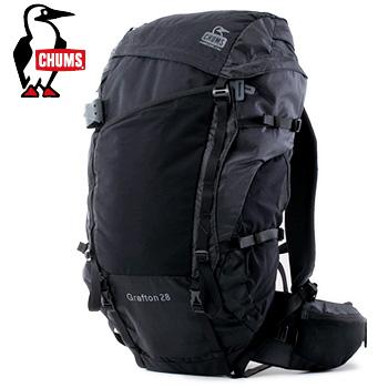 バックパック Sweat CHUMSグラフトン28 Nylon ブラック[チャムス CH60-2212 Black 28]【あす楽対応】 Book リュックサック デイバック Pack Grafton