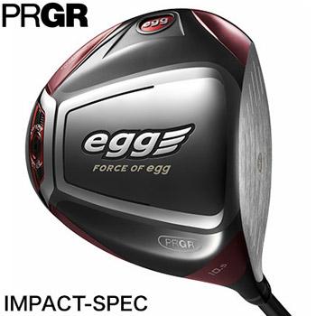 プロギア 2017 egg ドライバー IMPACT-SPEC 日本仕様 egg カーボンシャフト 44.5インチ [PRGR Driver 赤エッグ エッグドライバー インパクトスペック 17]【あす楽対応】