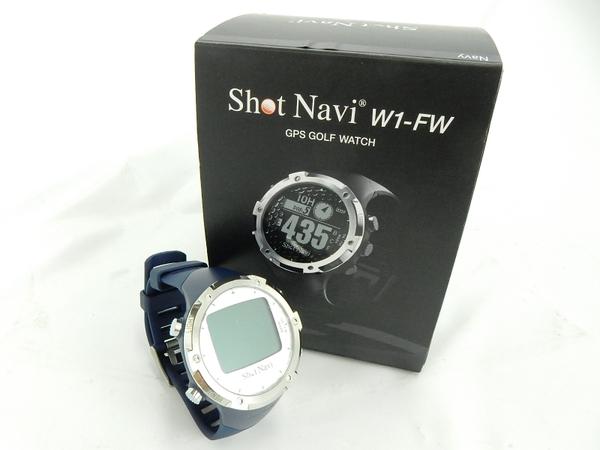 ショットナビ 2014 腕時計型GPSゴルフナビ W1-FW ブラック ホワイト ネイビー [shot navi watch GPS ゴルフ ナビゲーション]