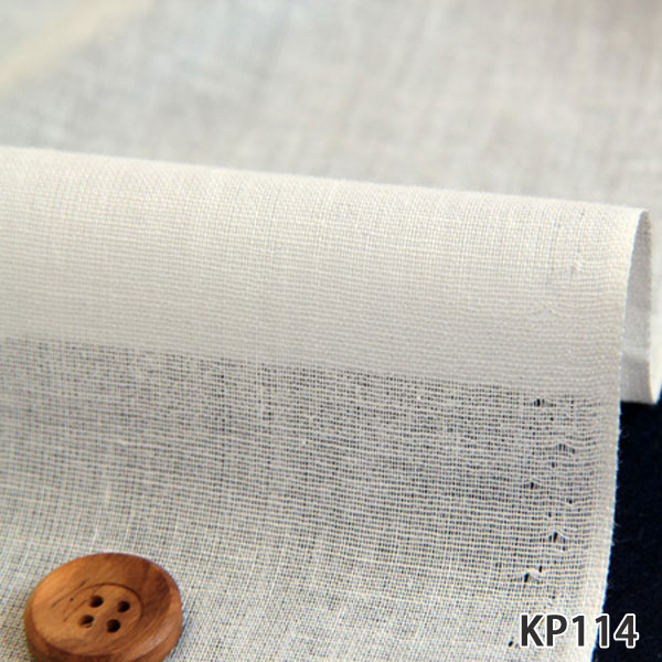 08 20≪52回目≫再入荷 爆売りセール開催中 布が柔らかくノリが多めについてます 接着芯 KP114 50cm単位 割引 中~厚地用 布目の粗い強力接着タイプ ハイモ布接着芯