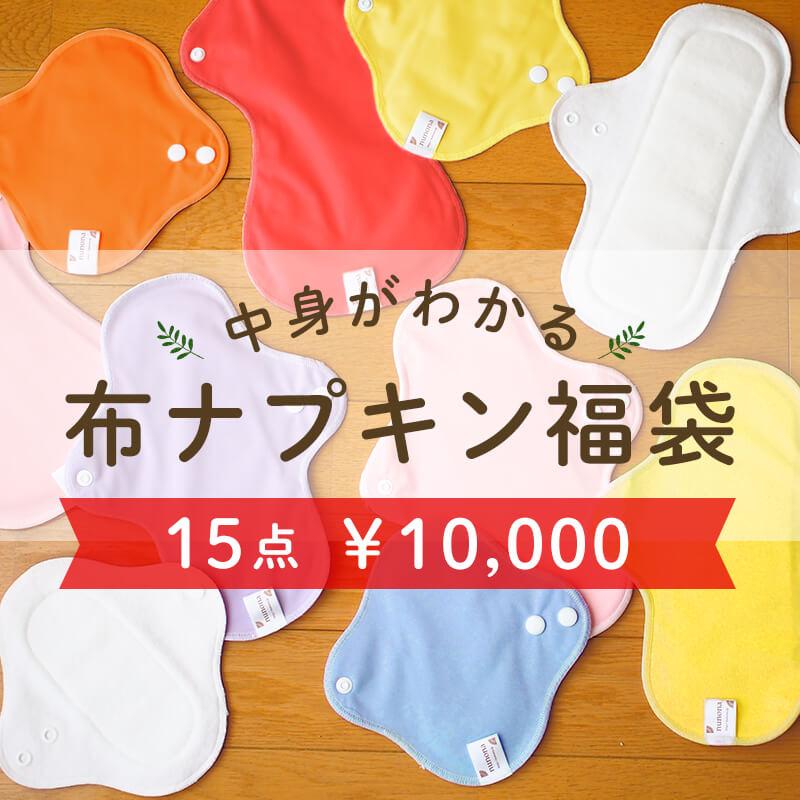 布ナプキン福袋1万円 15点入り オーガニックコットン使用布ナプキン 【送料無料】
