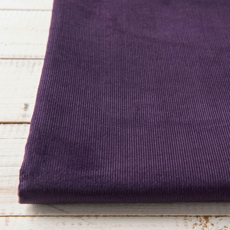 店 ニュアンスカラーが素敵 再入荷/予約販売! 薄手であったかいシャツコーデュロイ 10センチ単位 無地 生地 布 シャツコール コーデュロイ パープル 薄手 薄地 手芸 綿100% 秋冬 商用利用可 布小物 コール天 紫 15色