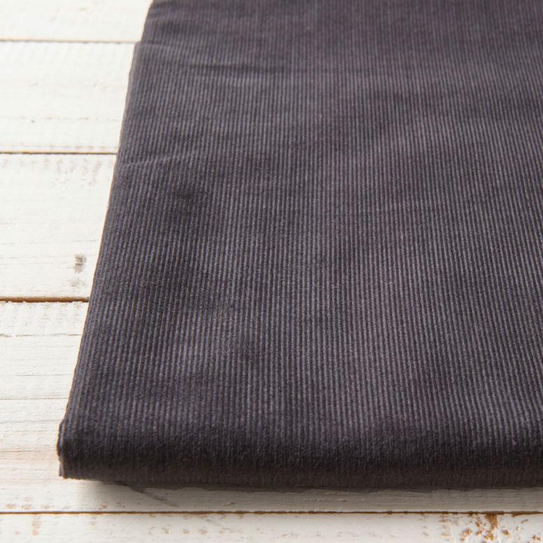 バーゲンセール ニュアンスカラーが素敵 薄手であったかいシャツコーデュロイ 10センチ単位 無地 生地 布 シャツコール コーデュロイ チャコールグレー 薄手 濃いグレー 綿100% 割引 コール天 薄地 秋冬 手芸 商用利用可 15色 布小物