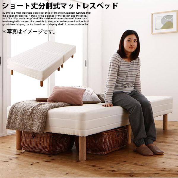 ショート丈分割式マットレスベッド シングル ショート丈 脚22cm【ポケットコイル】