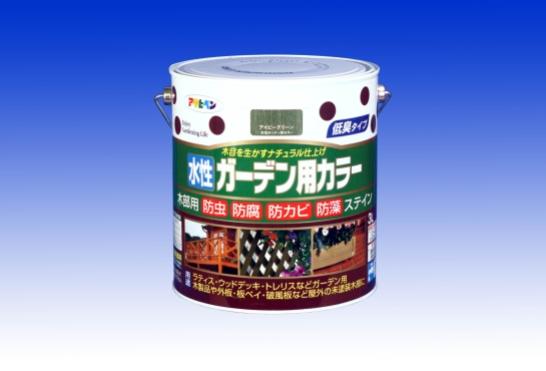 ☆木目を生かすナチュラル仕上げ☆ 新品未使用 保証 水性 ガーデン用カラー 3L - アサヒペン