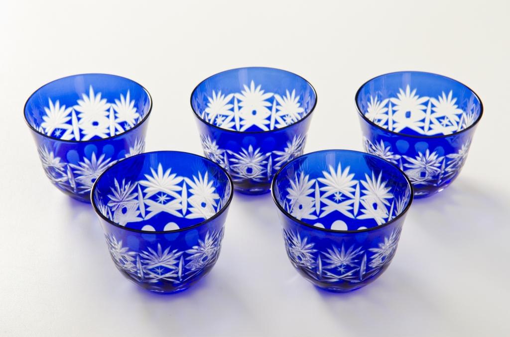 5 藍色桐子涼茶玻璃集