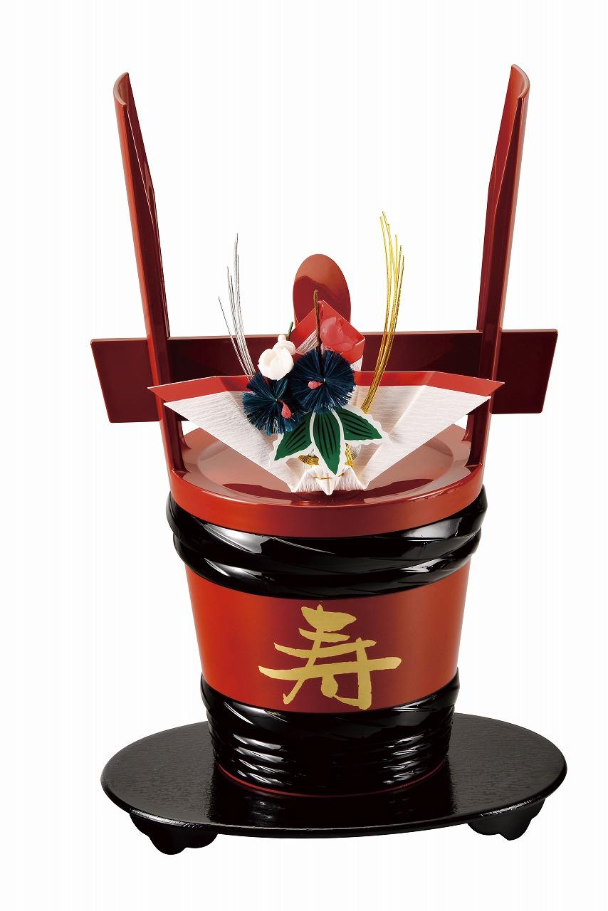祝儀の調度品 安心の定価販売 角樽 台付 寿 祝 朱 会津漆器 会津塗り 酒器 保証 正月