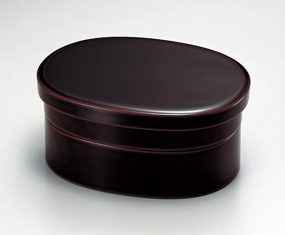 弁当箱 和食器 木製 越前漆器 溜塗り 漆塗り 二段弁当 小判型 越前塗り 天然木 おべんとう箱 2段 1個