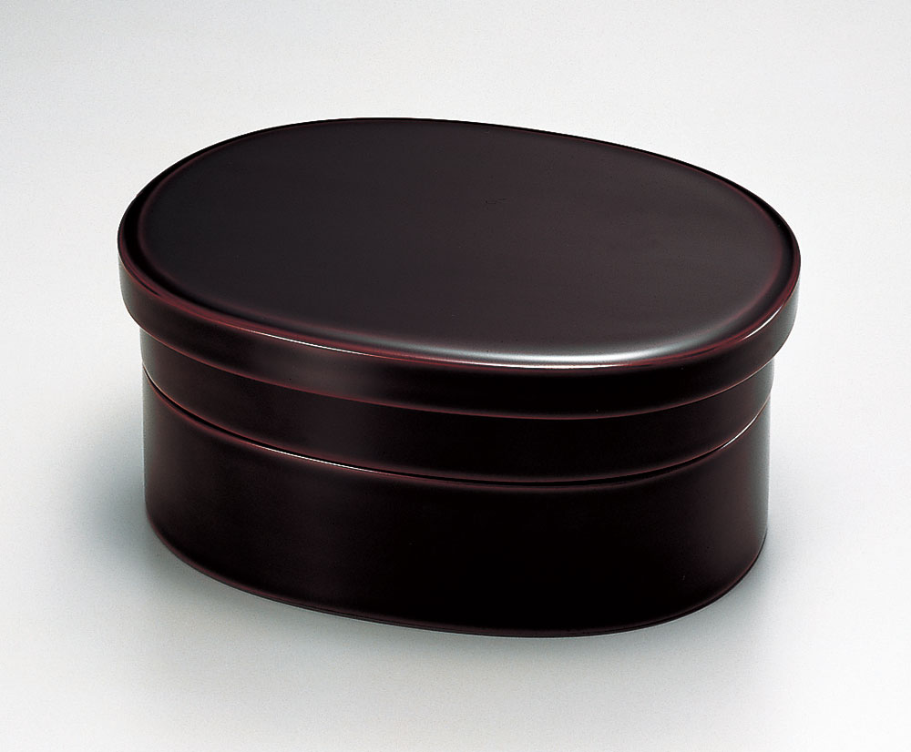 【RCP】 弁当箱 越前塗り 1個 小判型 二段弁当 溜塗り 2段 和食器 おべんとう箱 天然木 越前漆器 漆塗り 木製