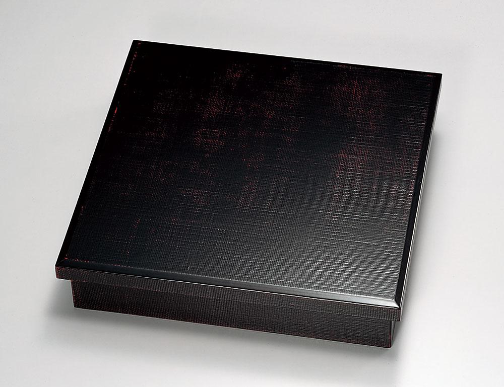 和食器 木製 松花堂 1段 越前漆器 曙布目 十字仕切り付 越前塗り お弁当箱 天然木 おべんとう箱 1個