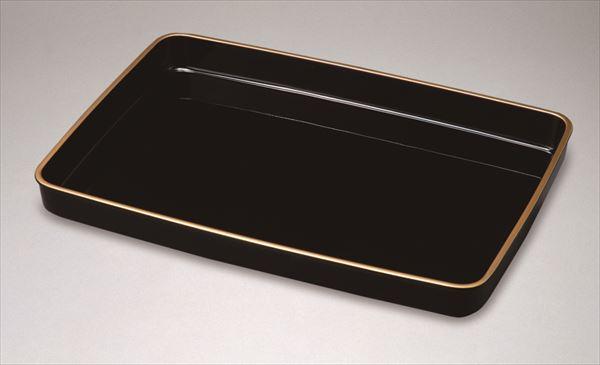 証書盆 賞状盆 式盆 黒塗り 金縁付 17.0 尺7寸 紀州漆器 木質