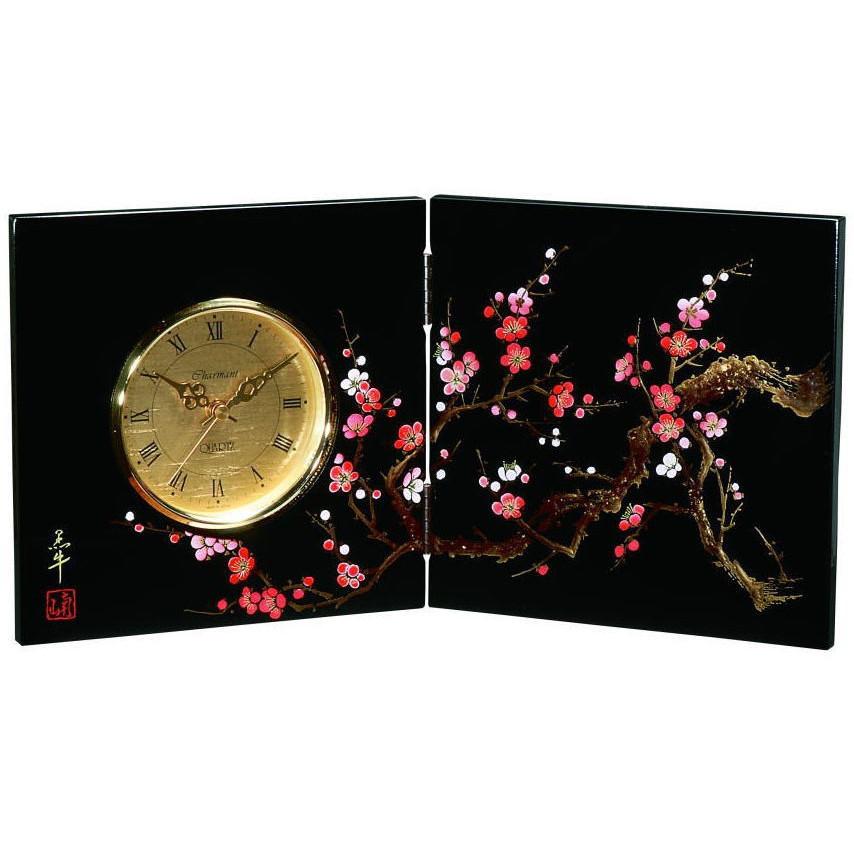 紀州漆器 屏風 時計 香林 黒塗り びょうぶ【ギフト・内祝い・成人内祝い・結婚内祝い・新築祝い・お返し】