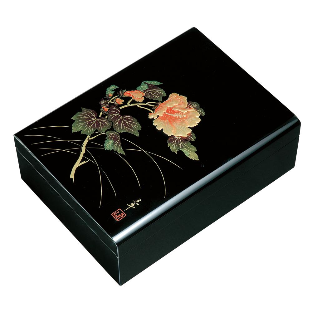 紀州漆器 文庫 合口 紀の花 黒塗り 11.0 文箱 書類入れ 書類箱【ギフト・内祝い・成人内祝い・結婚内祝い・新築祝い・お返し】