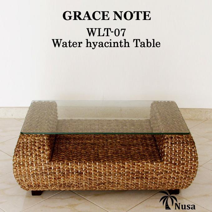 センターテーブル アジアン家具 ウォーターヒヤシンス グレイスノート ローテーブル テーブル 高品質【送料無料 丸型 60x100