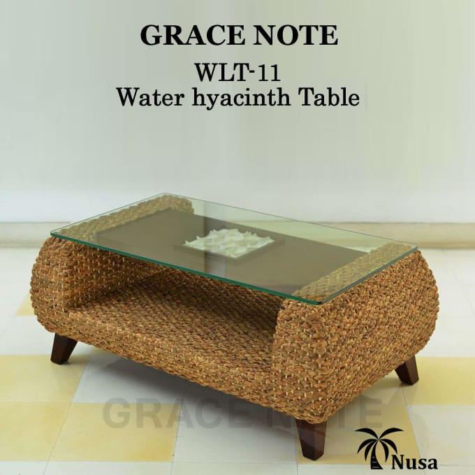 アジアン家具 テーブル ウォーターヒヤシンス ローテーブルグレイスノート 石彫り センターテーブル【送料無料】ストーンカービング 彫刻 モダン