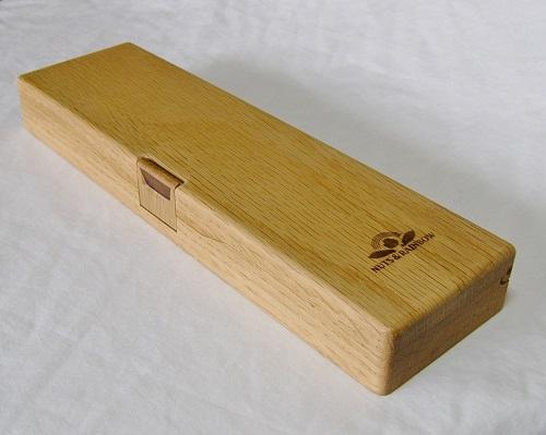 オリジナルペンケース(一枚板の筆箱;工房3号作品)