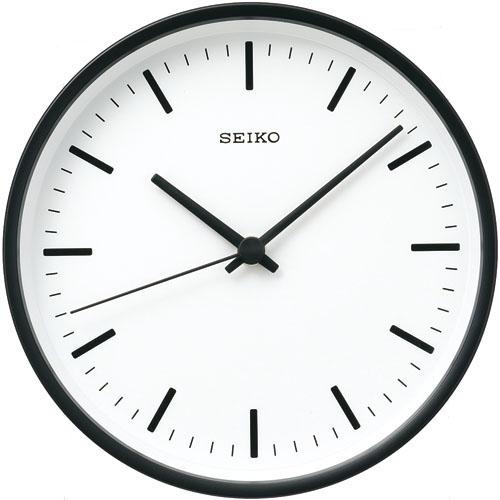 SEIKOギフト包装無料 セイコークロック SEIKO 掛け時計 壁掛け 電波時計 KX310K セイコー掛け時計 セイコー電波時計 パワーデザイン 直径200mm 黒 おしゃれ【あす楽対応】 送料無料【ギフト】