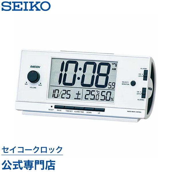 正規品 37%Off セイコー SEIKO ピクシス 目覚まし時計 置き時計 電波時計 大音量 おしゃれ SEIKOギフト包装無料 音量調節 NR534W あす楽対応 12パターン電子音 カレンダー ライデン ギフト セイコークロック 母の日 与え 温湿度計 期間限定お試し価格 デジタル