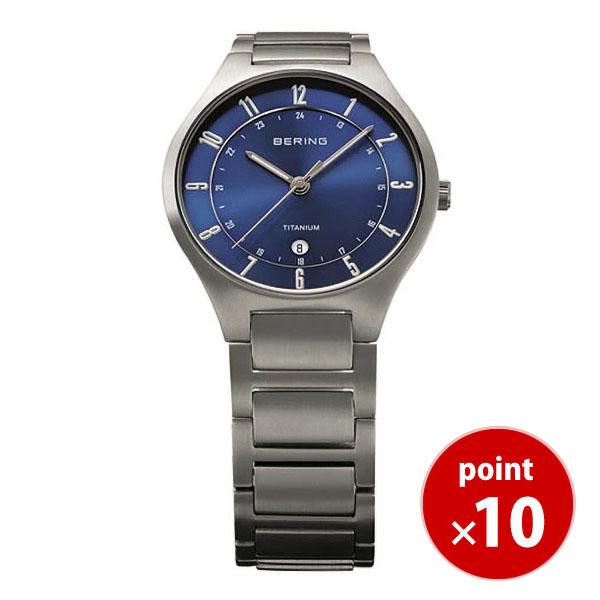 【国内正規品】【ギフト包装無料】ベーリング BERING メンズ 腕時計 11739-707 リンクチタニウム フルチタン カレンダー チタニウムメタルベルト 正規品 送料無料 腕時計 カジュアル 腕時計 男性