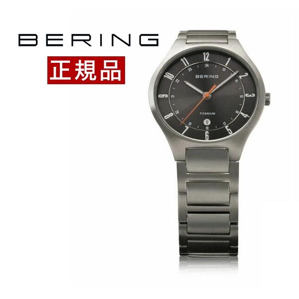 【国内正規品】【ギフト包装無料】ベーリング BERING メンズ 腕時計 11739-772 フルチタン カレンダー チタニウムメタルベルト 正規品 送料無料 【あす楽対応】