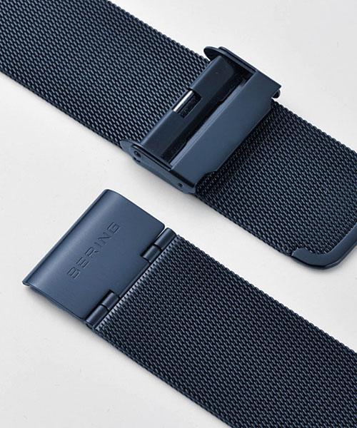 白令BERING人手錶Earth Navy 32139-227藍寶石玻璃陶瓷SS網絲皮帶正規的物品|手錶手錶休閒男性