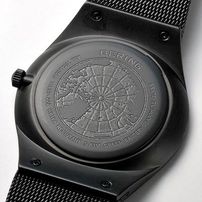 白令海峡白令海峡男装看 11937 227 超薄钛不锈钢网带真正 | 手表时尚男士休闲看