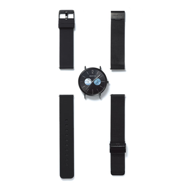 【国内正規品】【ギフト包装無料】ベーリング BERING メンズ 腕時計 径40mm 14240-122 ベルト2本セット CHANGES Polar Night 日本限定 サファイアガラス ラバー・ステンレスメッシュベルト あす楽対応