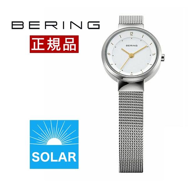 【国内正規品】【ギフト包装無料】ベーリング BERING レディース 腕時計 14424-001 スカンジナビアンソーラーミニ SSメッシュベルト【送料無料】【あす楽対応】|腕時計 腕時計