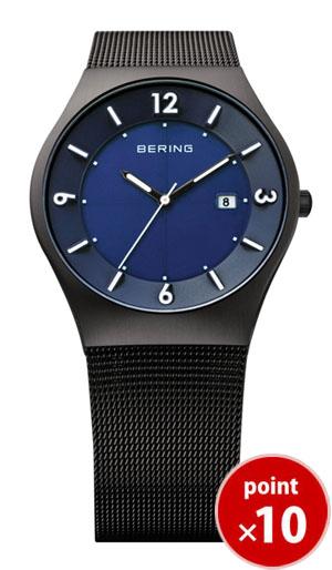 【国内正規品】【ギフト包装無料】ベーリング BERING メンズ 腕時計 SOLAR ソーラー ブルーフェイス SSメッシュベルト 14440-227|腕時計 ベーリング 正規品 送料無料【あす楽対応】
