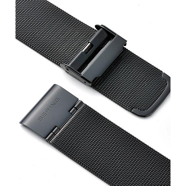 今だけ特製クロスプレゼント 【ギフト包装無料】ベーリング BERING メンズ 腕時計 14440-228 Sønderjysk SOLAR ソーラー ブラックフェイス SSメッシュベルト|腕時計 時計 腕時計  腕時計【正規品】