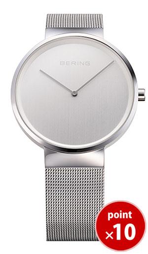 【国内正規品】【ギフト包装無料】ベーリング BERING メンズ 腕時計 14539-000 クラシックカービングメッシュ SSメッシュベルト【送料無料】|腕時計 腕時計