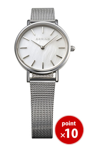 【国内正規品】【ギフト包装無料】ベーリング BERING レディース 腕時計 MOP Light 15327-004 クラシックカービングメッシュ SSメッシュベルト あす楽対応【送料無料】