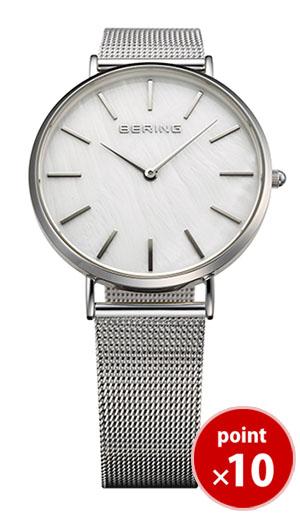 【国内正規品】【ギフト包装無料】ベーリング BERING メンズ 腕時計 MOP Light 15336-004 クラシックカービングメッシュ SSメッシュベルト あす楽対応【送料無料】
