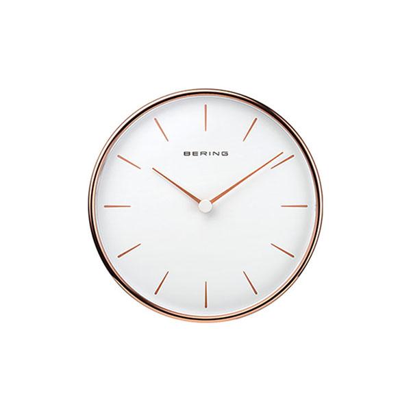 ベーリング BERING WALL CLOCK 160mm 掛け時計 初売り 壁掛け 送料無料 定番から日本未入荷 ローズゴールド 90162-64R ギフト包装 正規品 ホワイト